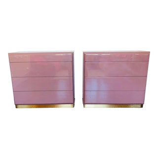 1980s Post Modern Milo Baughman Aubergine Dressers - a Set of Two For Sale