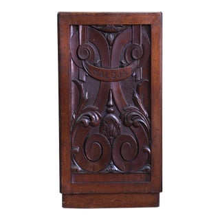 Late 19th Century Carved Square Umbrella Stand For Sale