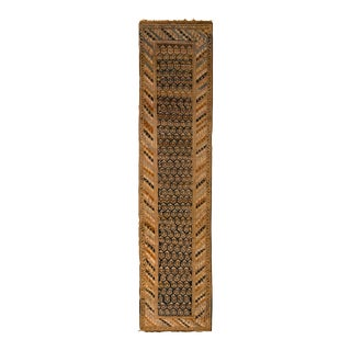Antique Karabagh Runner Beige Brown and Black Classic Rug With Boteh Pattern For Sale