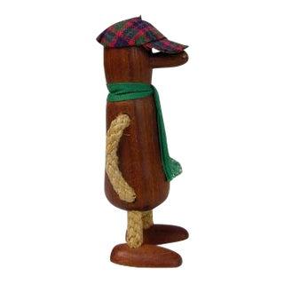 Big Nose Whistle Carved Teak Figurine
