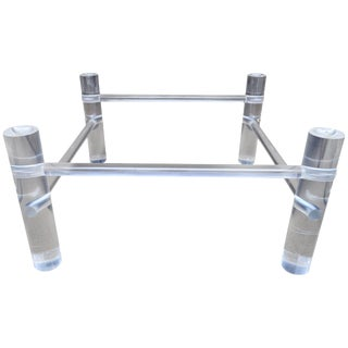 Tubular Lucite Cocktail Table Base For Sale