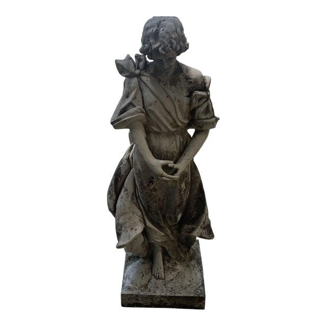 1930s Vintage Resin Statue For Sale