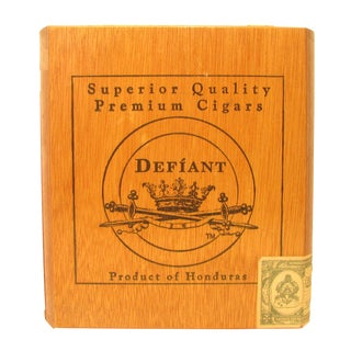 Vintage Decorative Wood Cigar Box For Sale