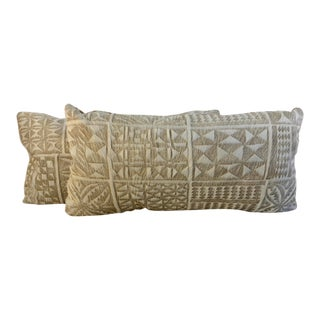 "Etched ""Large Yma"" Hair on Hide Pillows - a Pair For Sale"
