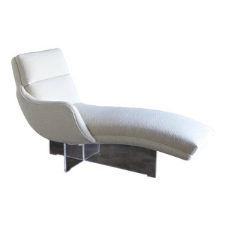 "1970s Vladimir Kagan "" Erica "" Chaise Lounge For Sale"