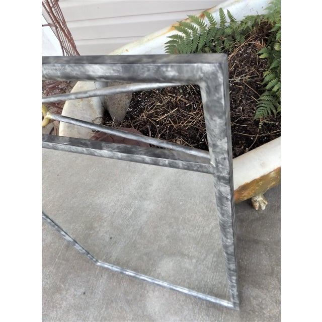 """Southwest Inspired Metal Framed Wall Mirror, 38"""" X 24"""". Very well made frame. No issues whatsoever."""