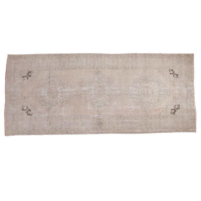 "Distressed Oushak Runner - 4'7"" X 10'8"" - Image 1 of 9"