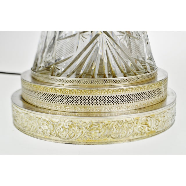 Victorian Style Cut Glass Pitcher Table Lamp For Sale - Image 10 of 13