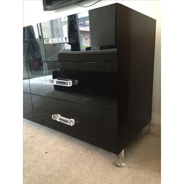 ModShop Black Glass & Lacquer 6-Drawer Dresser - Image 3 of 7
