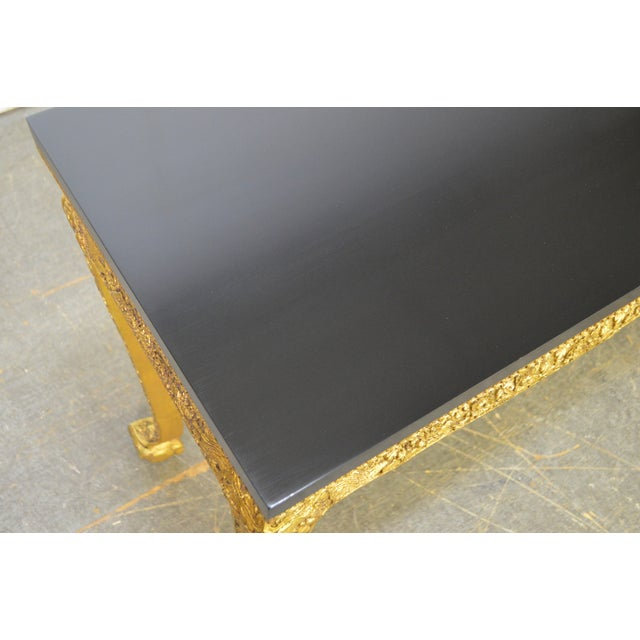 *STORE ITEM #: 16882-fw Georgian Style Carved Gilt Console Table by Manheim Weitz AGE / ORIGIN: Approx 25 years, Dallas...