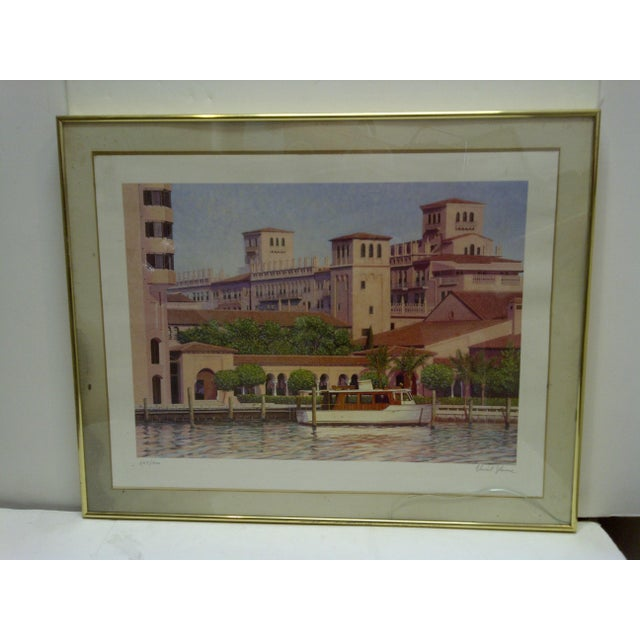 "This is a limited edition signed numbered (245/500) print. Titled ""Boca Raton Resort & Club"" By Vincent Lacace The print..."