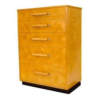 Johnson Furniture Co. Eliel Saarinen Highboy Dresser For Sale