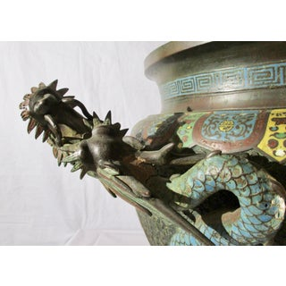 Japanese Champleve Bronze Jardiniere With Dragon Preview