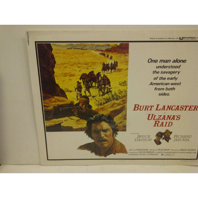 "American ""Ulzana's Raid"" 1972 Vintage Movie Poster For Sale - Image 3 of 5"