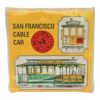 Vintage San Francisco Cable Car Paper Napkins - Set of 24
