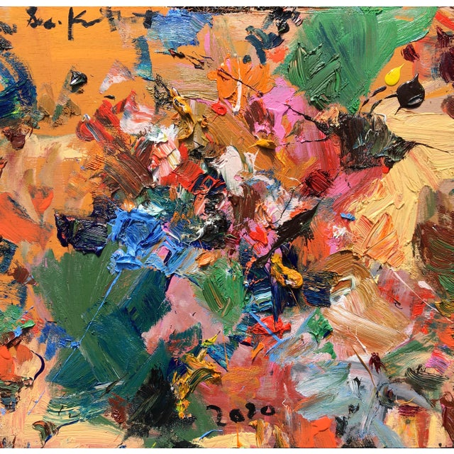 'Flight of the Bumblebee' Abstract Oil Painting by Sean Kratzert For Sale