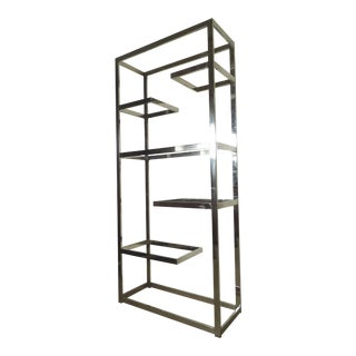 Mid Century Chrome Etagere For Sale