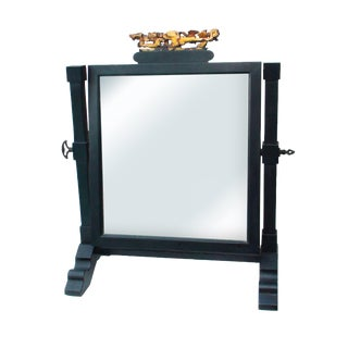 19th C. Japanese Lacquered Shaving Mirror For Sale