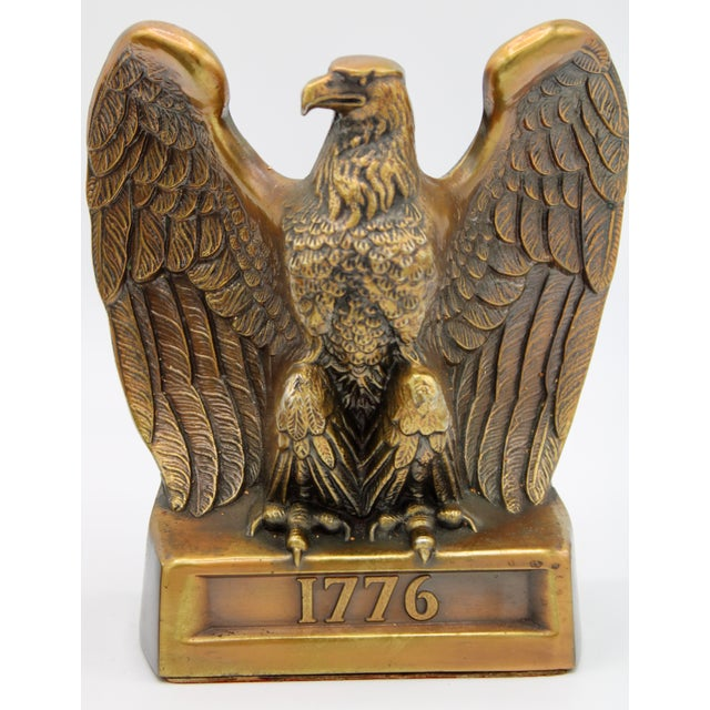 "Vintage ""1776"" American Federal Eagle Bookends For Sale - Image 4 of 13"