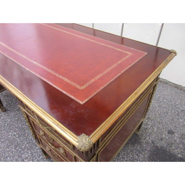 Early 20th Century French Empire Style Desk with Leather Top For Sale - Image 5 of 10