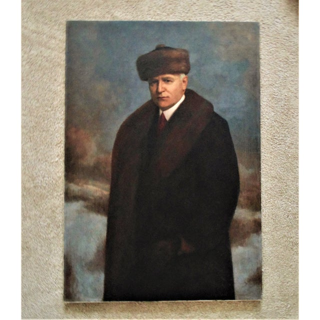 Antique Portrait Painting Man Gentleman Oil on Canvas Signed Emil Pollak-Ottendorff For Sale In Providence - Image 6 of 6