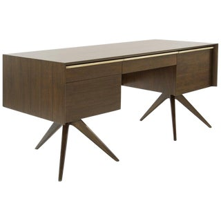 Rare Walnut Desk by Vladimir Kagan for Grosfeld House, Circa 1950s For Sale