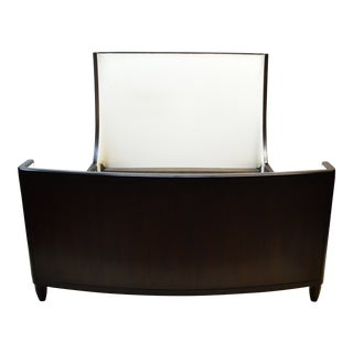 Henredon Barbara Barry Collection Mahogany Queen Size Bed For Sale