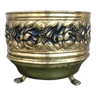 English Footed Brass Regency Planter