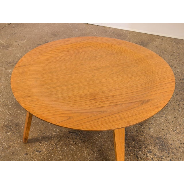 Charles and Ray Eames Vintage Eames Molded Coffee Table Wood Base For Sale - Image 4 of 9