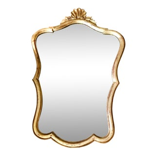 Italian Gilt Mirror Hand Carved For Sale