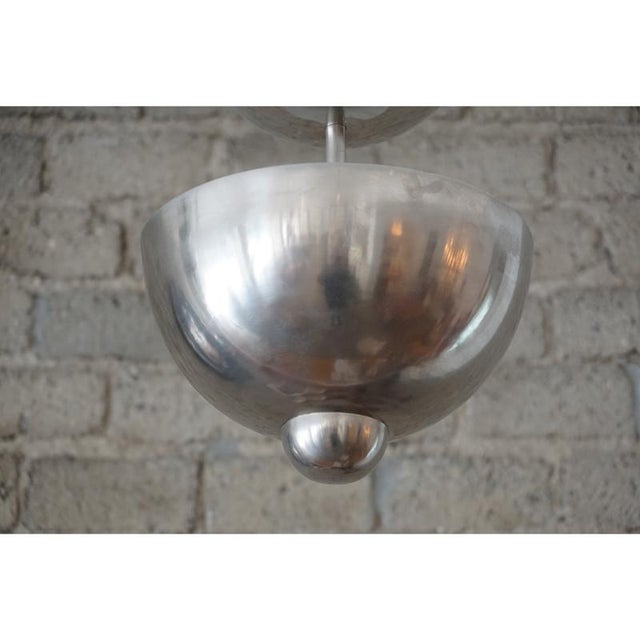 Mid-Century Modern Modernist Graduated Dome Pendant For Sale - Image 3 of 6