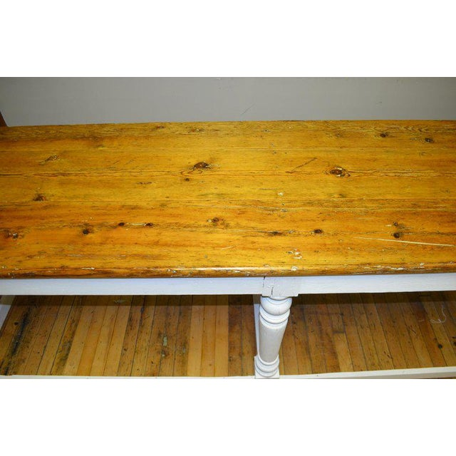 Kitchen Island Restaurant Prep From Rectory Table 100 Years Old. Ships Free. For Sale - Image 10 of 11
