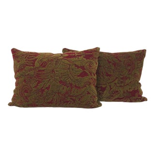 Vintage Italian Brocade Pillow Covers - a Pair For Sale