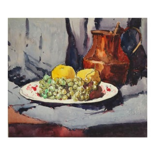 Mid 20th Century French Still Life with Fruit Painting For Sale