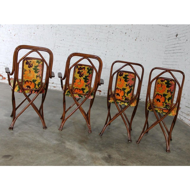 Antique Gebruder Thonet Bentwood Chairs - Set of 4 For Sale - Image 5 of 11