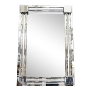 Custom Glass and Rod Polished Nickel Tubular Mirror For Sale