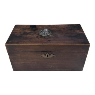 Antique Georgian Period Mahogany Tea Caddy Box For Sale