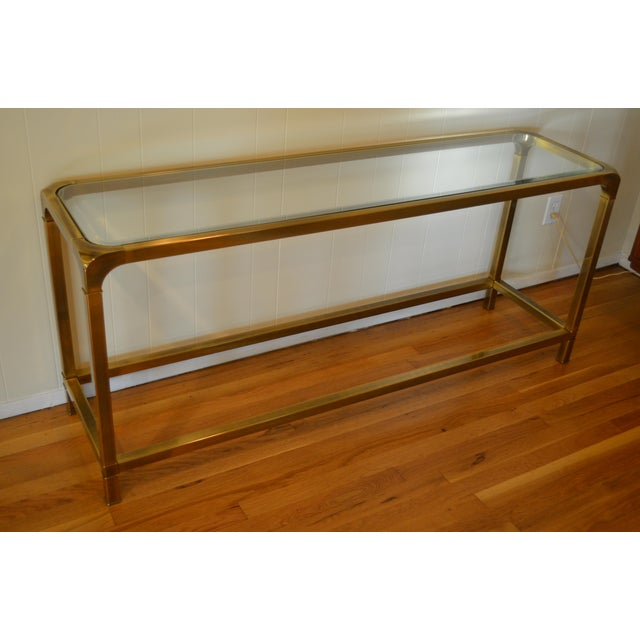 Mastercraft Hollywood Regency Brass Console/Sofa Table - Image 4 of 7