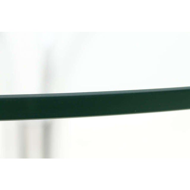 Metal Glass and Steel Tube Dining Table by Giotto Stoppino, Italy 1960`s For Sale - Image 7 of 9