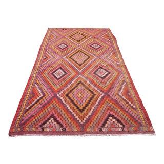 Pink Turkish Kilim Rug