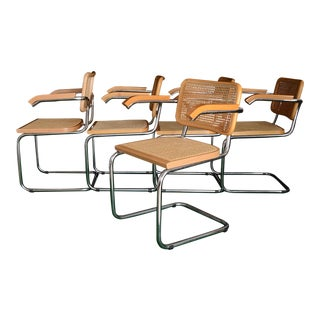 Breuer/Cesca Wicker Cantilever Chairs - Set of 5