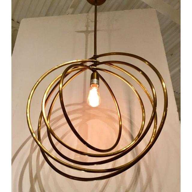 2010s Arteriors Quintana Antique Brass Chandelier For Sale - Image 5 of 6