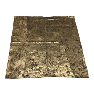 Schumacher Gilt Gold Nugget Fabric For Sale