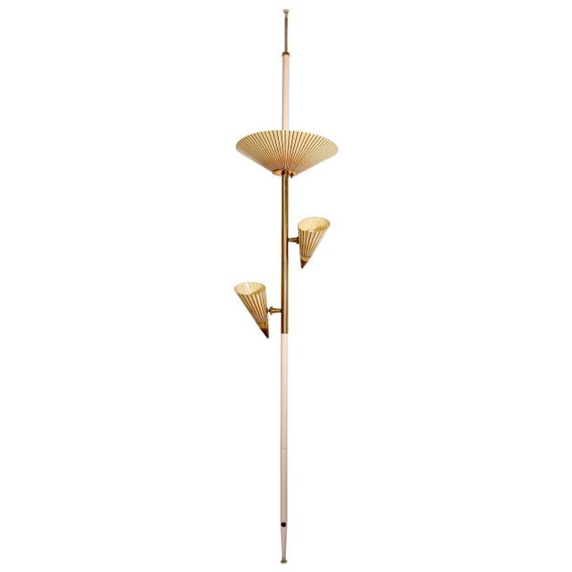 1950s Adjustable Vintage Three Shades Extension Pole Lamp by Gerald Thurston For Sale - Image 13 of 13