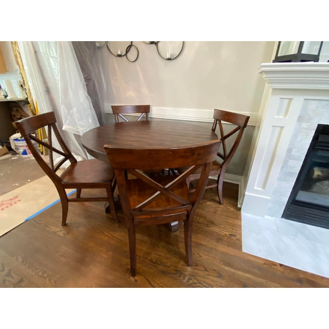 Pottery Barn Traditional Pottery Barn Dining Set - 5 Pieces For Sale - Image 4 of 7