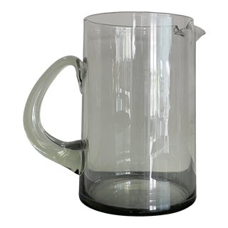 Vintage Holmegaard Smoked Glass Hand-Blown Pitcher For Sale