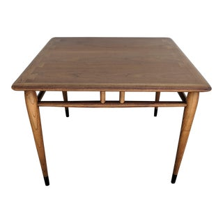 1950s Mid-Century Modern Lane Furniture Oak Lamp Table For Sale