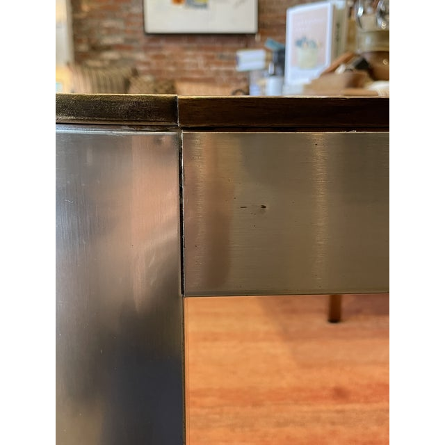 1970s Chrome and Mirror Console Table For Sale - Image 11 of 13