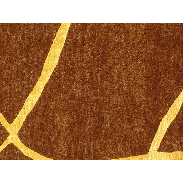 """Pasargad N Y Modern Hand-Knotted Wool Rug - 6' X 9'1"""" For Sale - Image 4 of 6"""