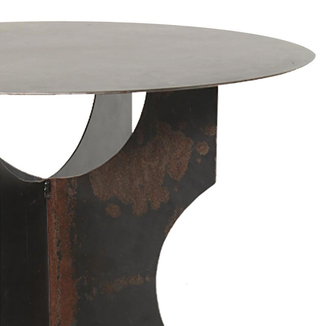 Modern Steel Round Table For Sale - Image 4 of 8